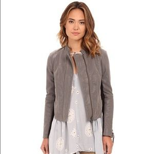 Free People Steel Mill Faux Leather Jacket Size 0
